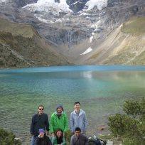 Gruppenfoto am Humantay Lake