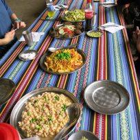 Mittagessen in Playa Sahuayacco