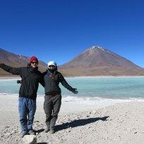 Fränzi und Dani bei der Laguna Verde