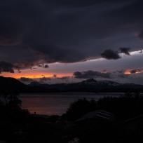 Sonnenuntergang am zweiten Abend im Refugio Las Cuernos