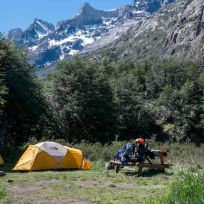 Unser Zelt für die vierte Nacht im Camp Grey