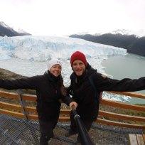 Selfie mit Gletscher