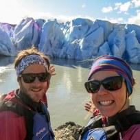 Beim Kayaken vor dem Glaciar Grey
