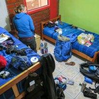 Chaos! Rucksack packen in Puerto Natales