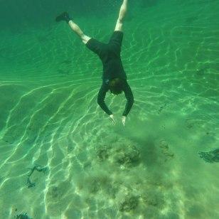 Unterwasser Quelle