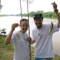 Erfolgreiche Piranha-Fischer