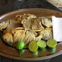 Frisch zubereitete Piranhas
