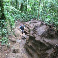 Dani beim aufstieg auf den Cerro Chato