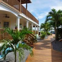 Blick durch das Resort