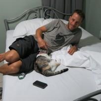Tierischer Besuch im Hostel in Managua