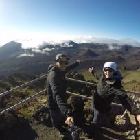 Selfie beim Haleakala Krater