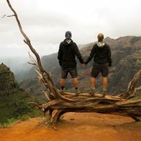 Auf der Wanderung im Waimea Canyon