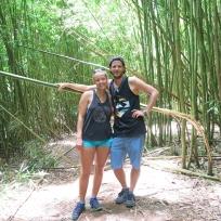 Wir zwei im Bamboo Jungle