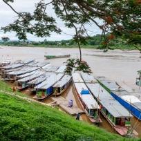 Schiffsanleger in Houayxay
