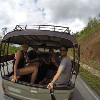 Auf der Rückfahrt aus dem Dschungel