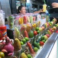 Fruit Shake Stand auf dem Nachtmarkt