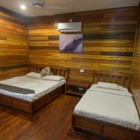 Unser sehr schönes Zimmer im Scuba Junkie Mabul Beach Resort