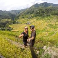 Über den gigantischen Reisfeldern von Batad