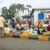 Strassenmarkt in Semporna