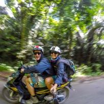 Spass auf dem Motorbike