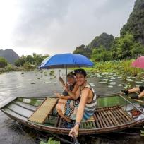 Selfie auf der Tam Coc Tour bei Regen