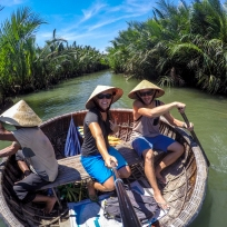 Bambus Korb Boot Ausflug
